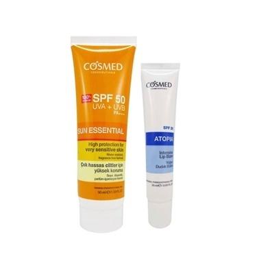 Cosmed Sun Essential SPF50 Very Sensitive Skin Cream 50ml Set Renksiz